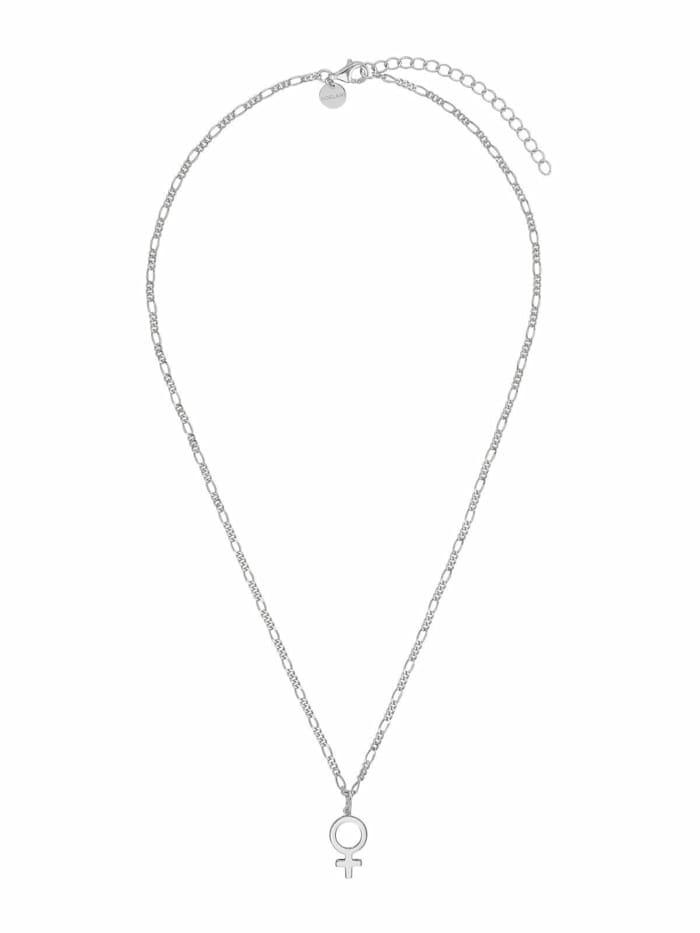 Noelani Kette mit Anhänger für Damen, Sterling Silber 925, Gender-Symbol, Silber