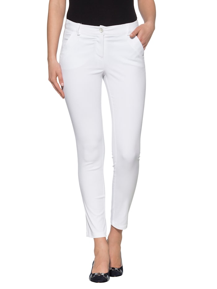 Alba Moda Broek in skinny model, Wit