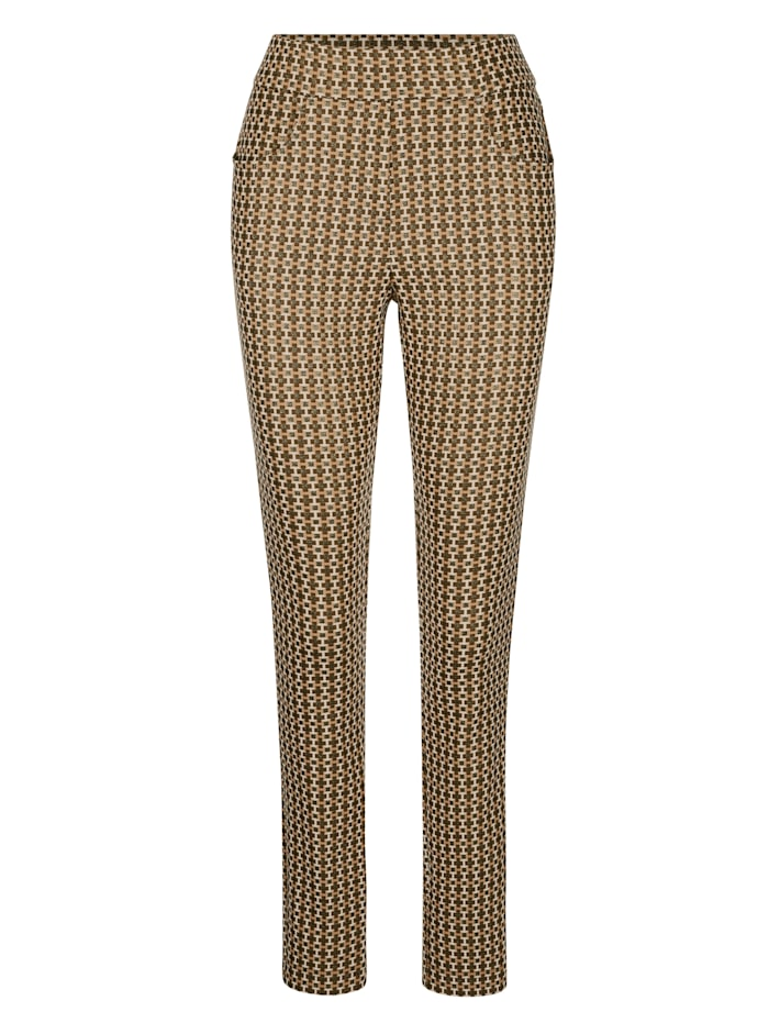Pantalon facile à enfiler en jersey jacquard