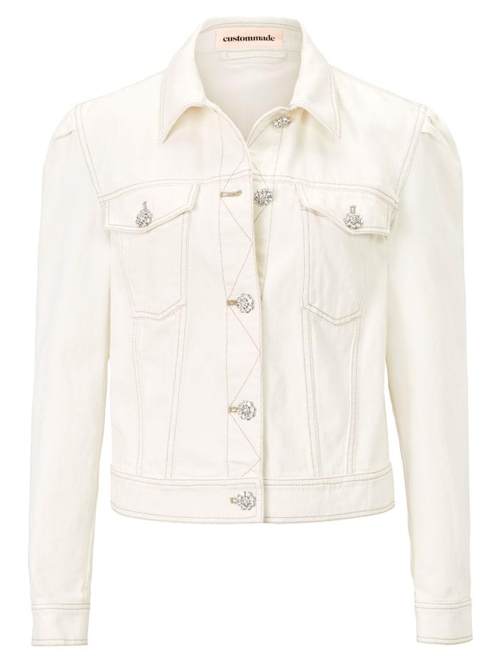 Custommade Jeansjacke, Weiß