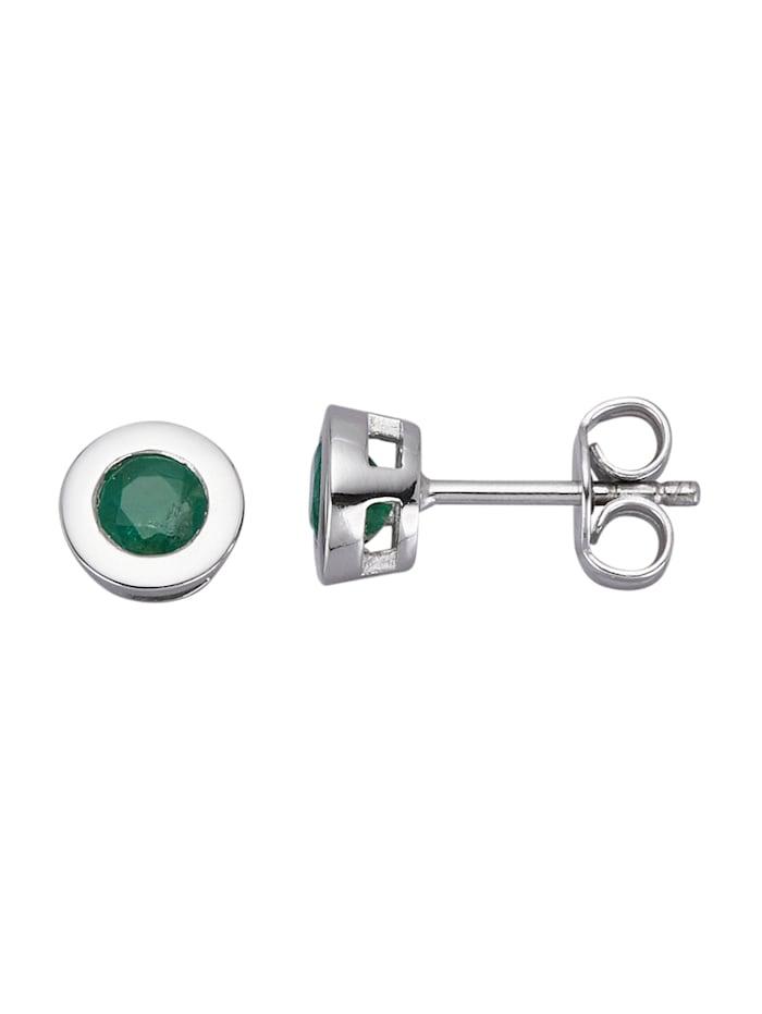 Diemer Platin Platinakorvakorut – smaragdit, Vihreä