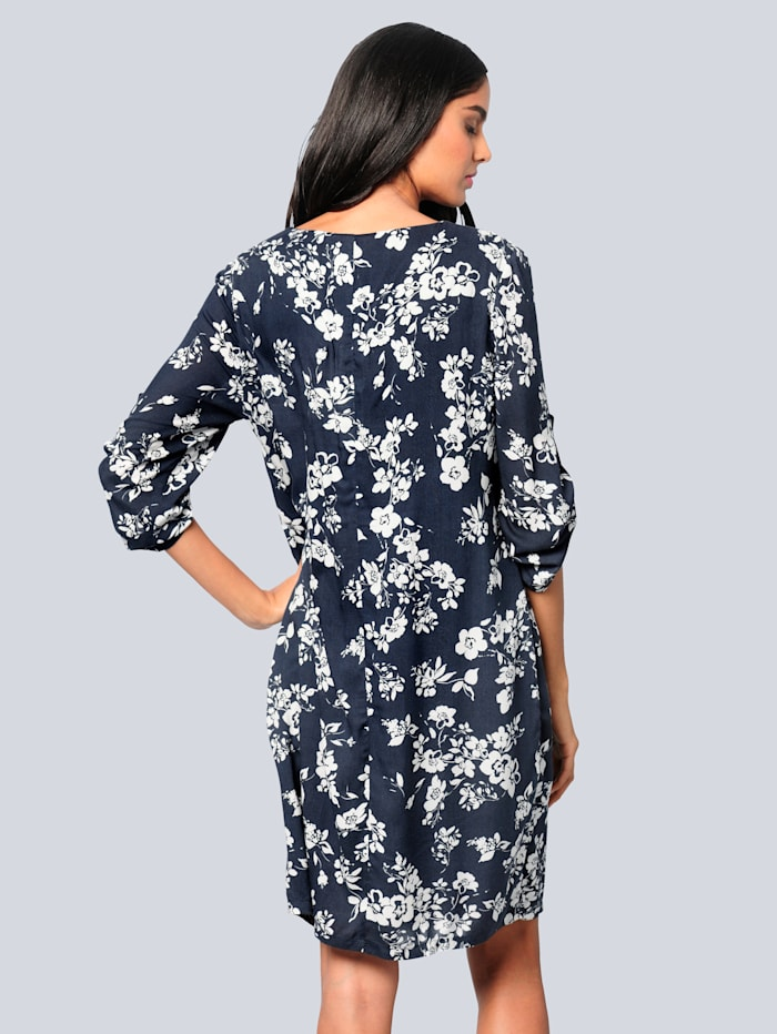 Kleid im exklusivem Floraldessin