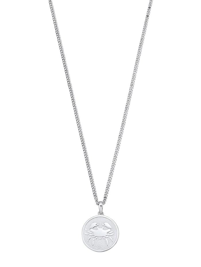 Halsband med stjärntecken Kräftan, Vit