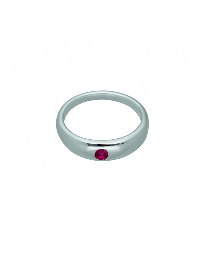 1001 Diamonds Damen Silberschmuck 925 Silber Anhänger Taufring mit Rubin Ø 10,9 mm, rot