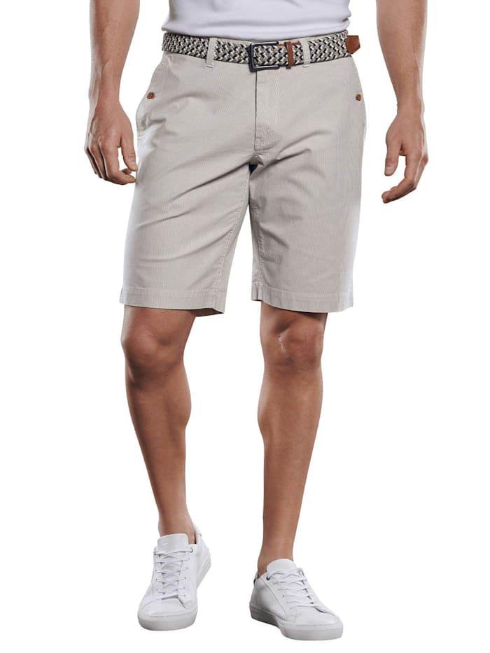 Engbers Chino-Shorts in Seersucker-Optik, Ecru