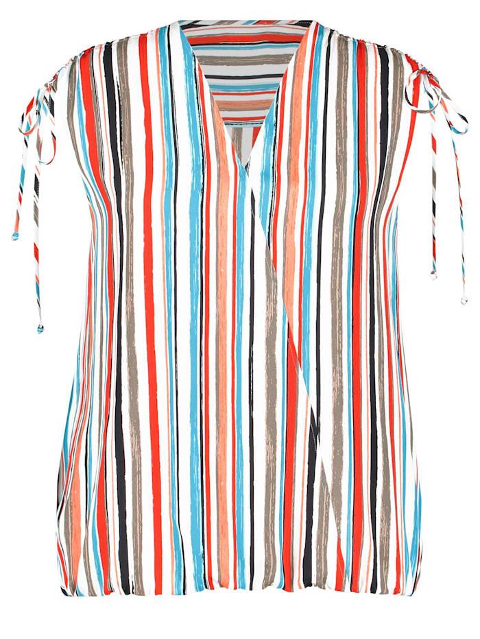 Bluse mit Multicolor-Streifen