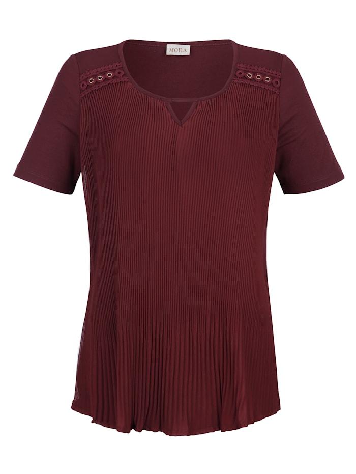 Shirt mit Plissee