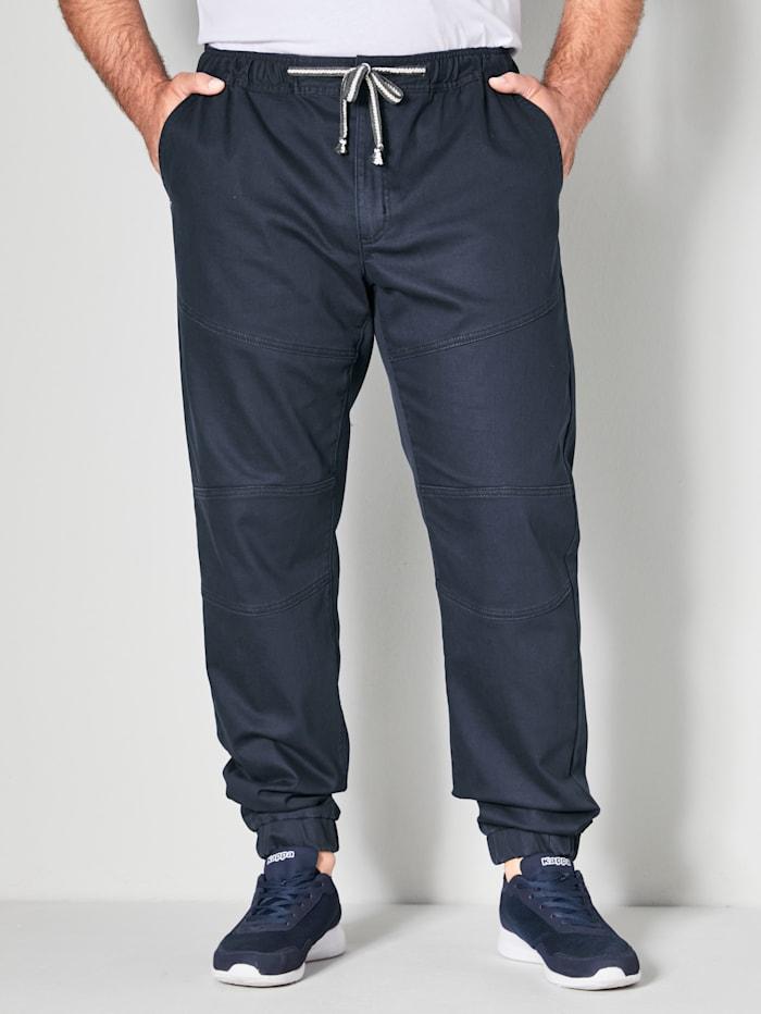 Men Plus Hose Slim Fit, Marineblau