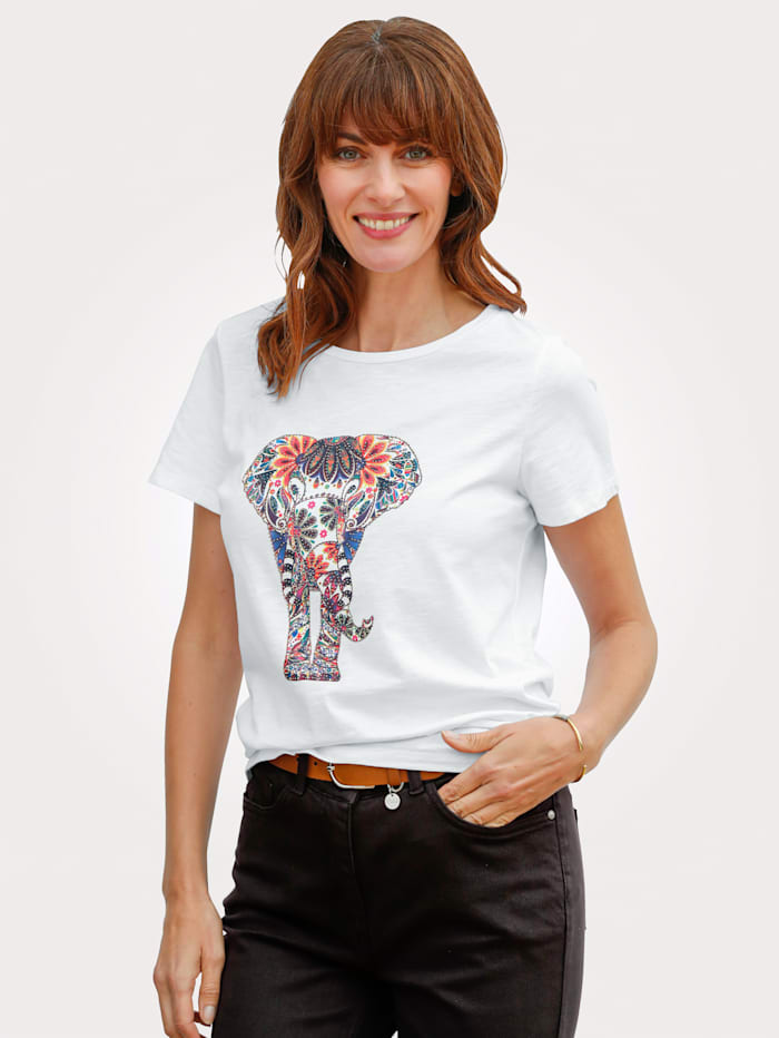 Top with elephant print