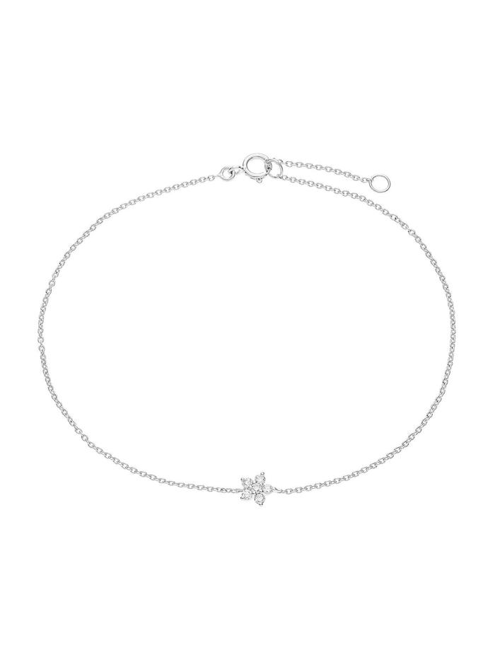 CHRIST Diamonds CHRIST Diamonds Damen-Armband 375er Weißgold 6 Diamant, silberfarben