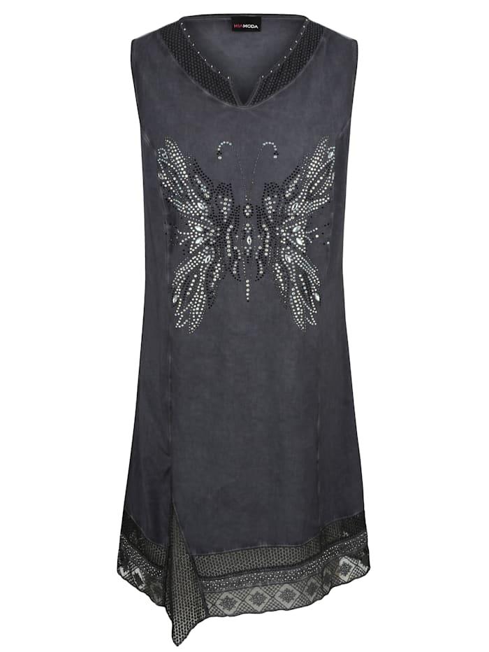 Kleid mit Schmetterling aus Dekosteinen