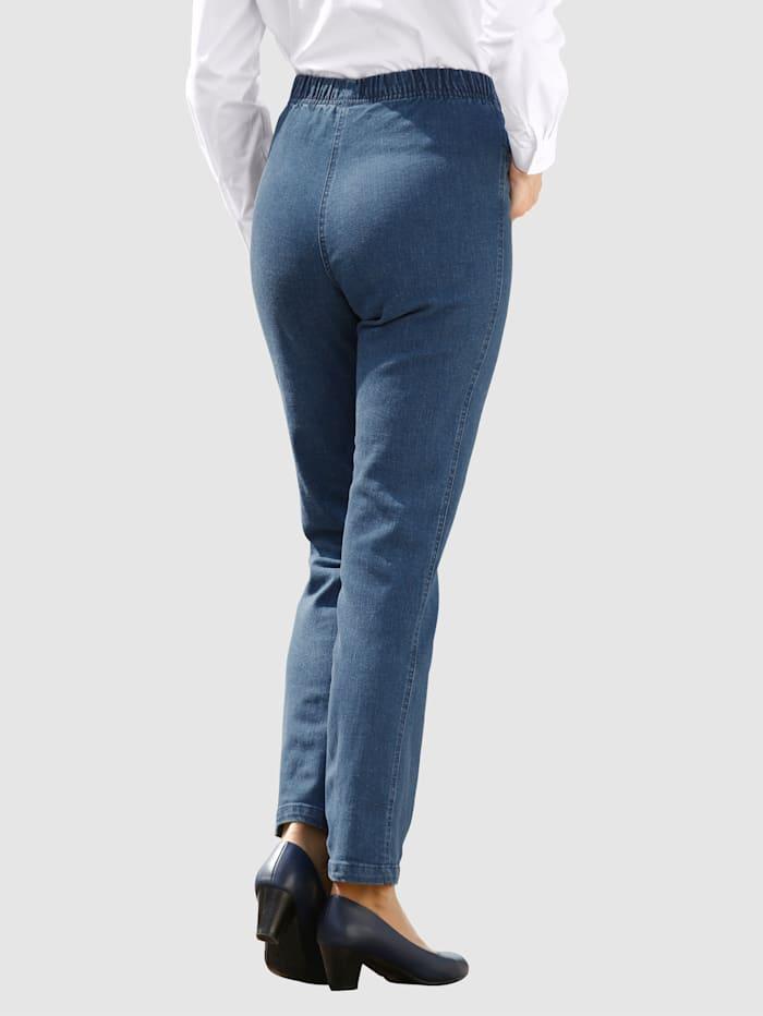 Jeans med resår i midjan i bekväm dra på-modell
