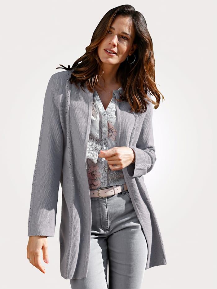 MONA Cardigan in a longline cut, Light Grey