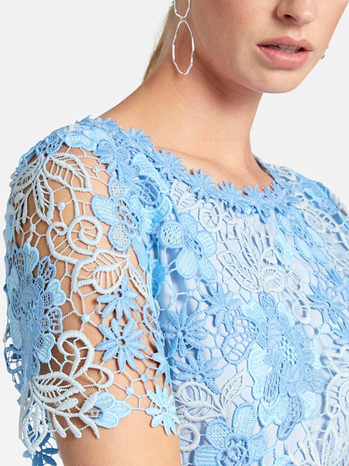 Knieumspielendes Kleid mit floraler Spitze