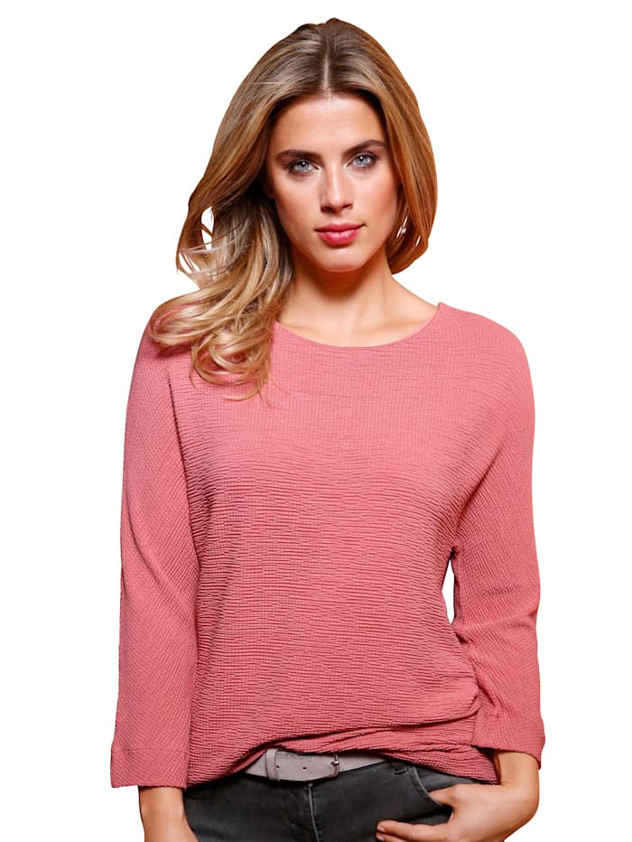Betty & Co Shirt in piquélook, Roze