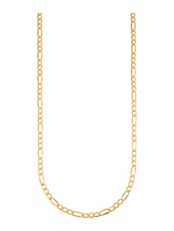 Figarokette diamantiert, Gelbgoldfarben