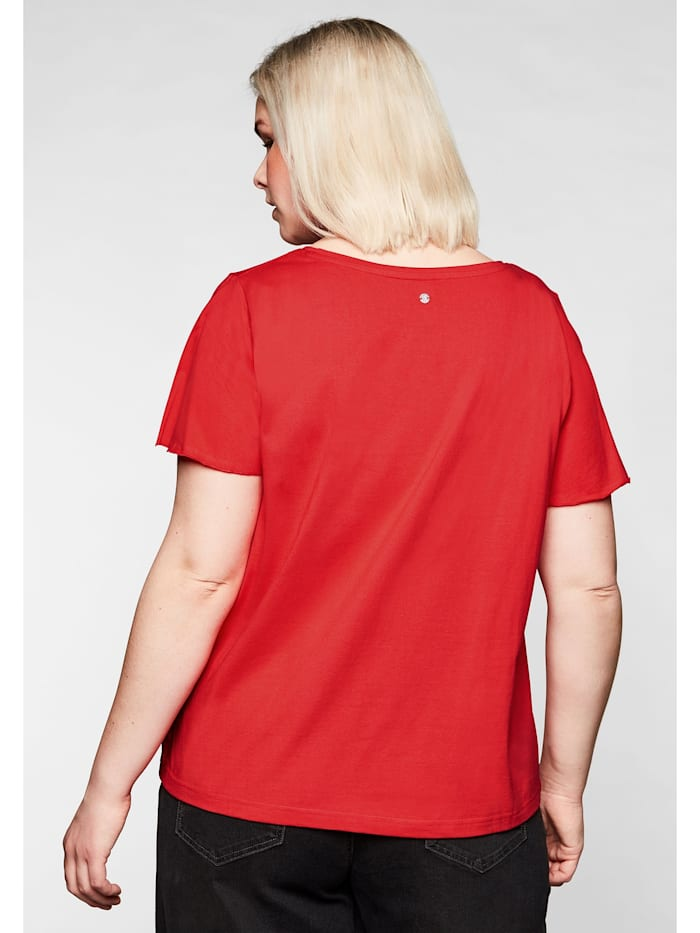 T-Shirt mit Flügelärmeln, in leichter A-Linie