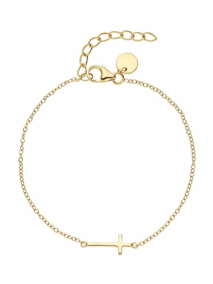 Noelani Armband für Damen, Sterling Silber 925, Kreuz, Gold