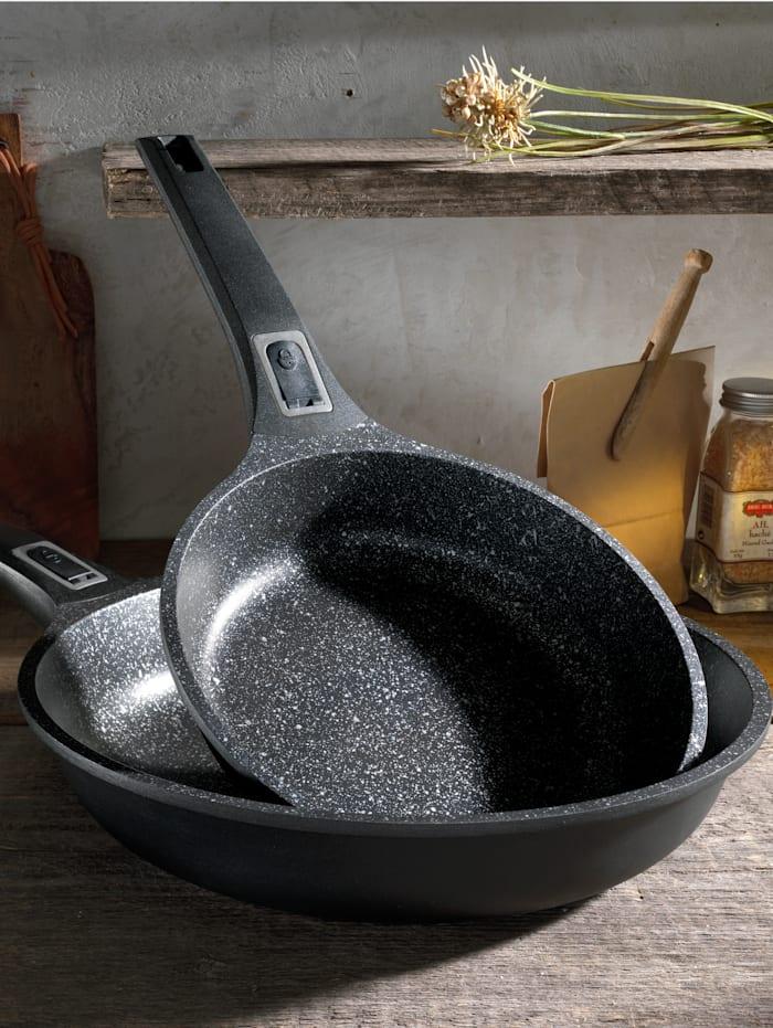 GSW Set van 2 koekenpannen Easy Click, zwart