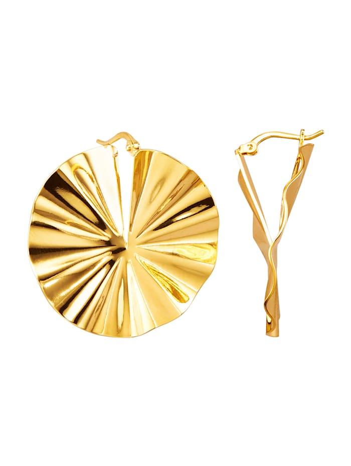 Golden Style Pyöreät korvakorut, Keltakullanvärinen