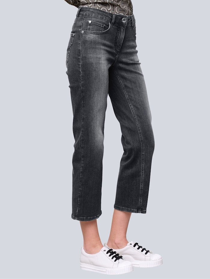 Alba Moda Jeans in Culotte-Form, Grey