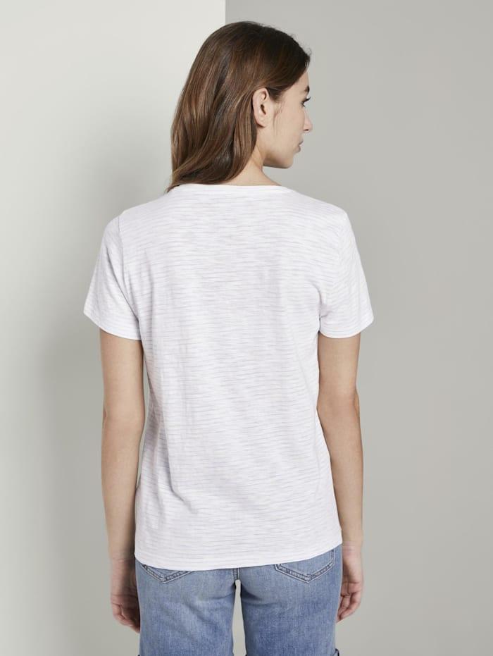 Gestreiftes T-Shirt mit floralem Print