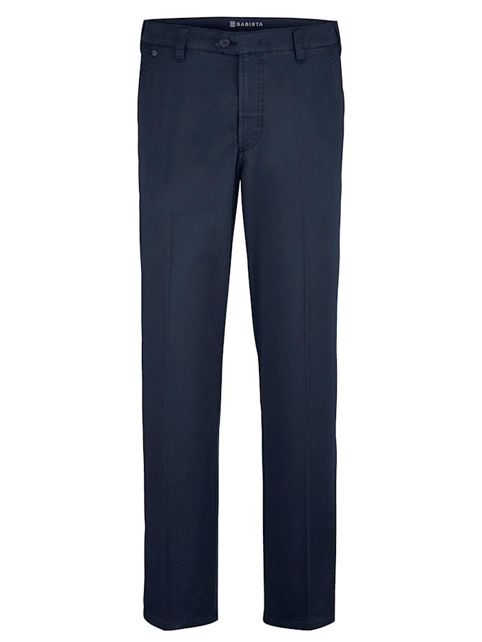 Babista Premium Pantalon en coton SUPIMA, Bleu foncé