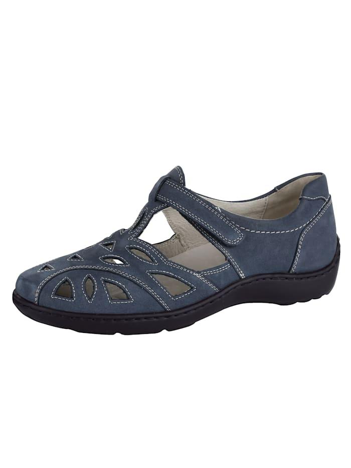 Waldläufer Slip-On Sandals, Blue