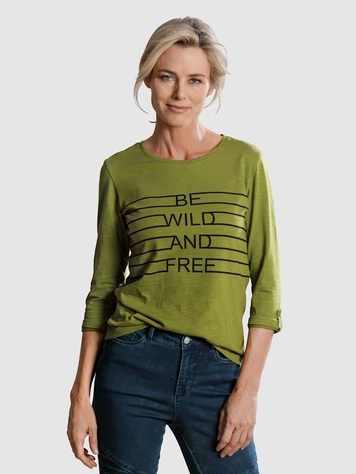 Dress In Shirt mit Frontdruck, Grün