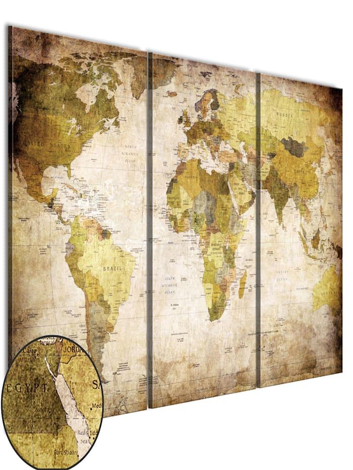 artgeist Wandbild Alte Kontinente, Beige,Braun,Creme,Gelb
