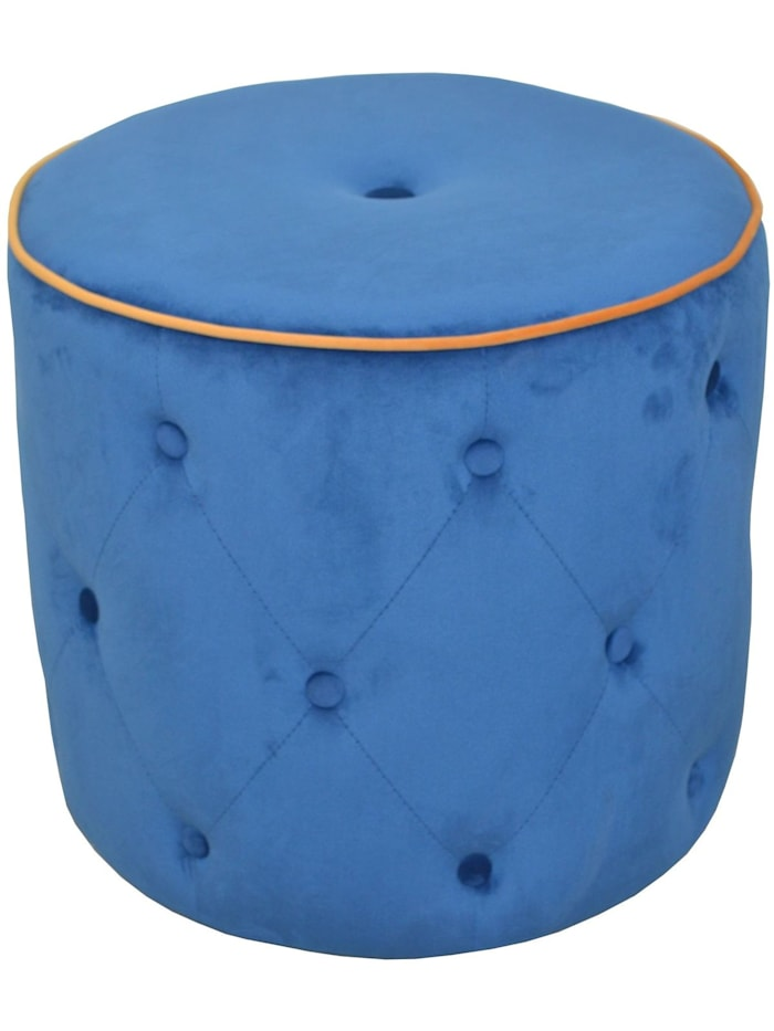 Möbel-Direkt-Online Sitzpouf Madagaskar, blau