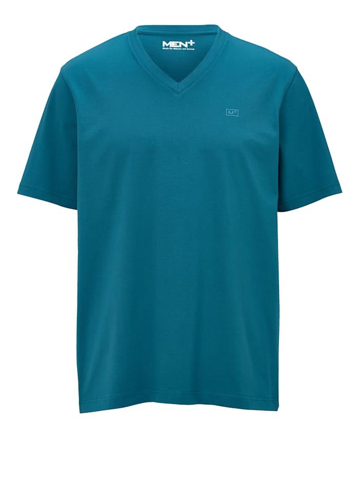 Men Plus Shirt met V-hals, Petrol