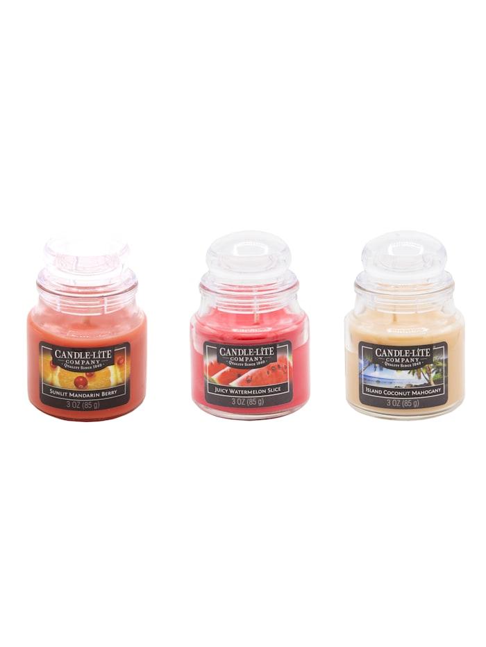 Candle-Lite Duftkerzen-Set, 3-tlg., bunt
