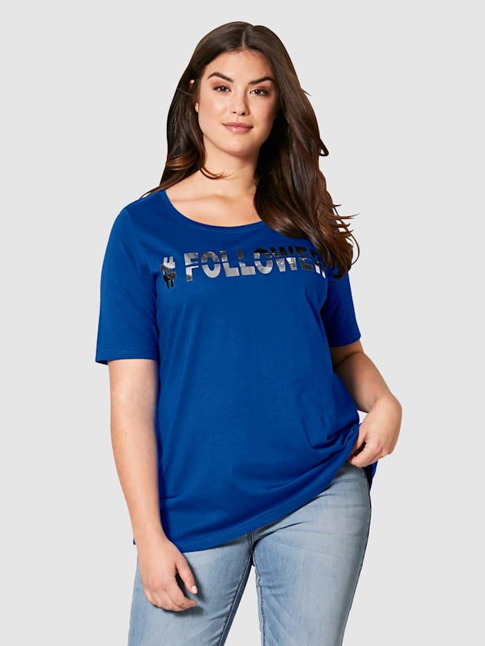 Angel of Style Shirt aus reiner Baumwolle, Royalblau