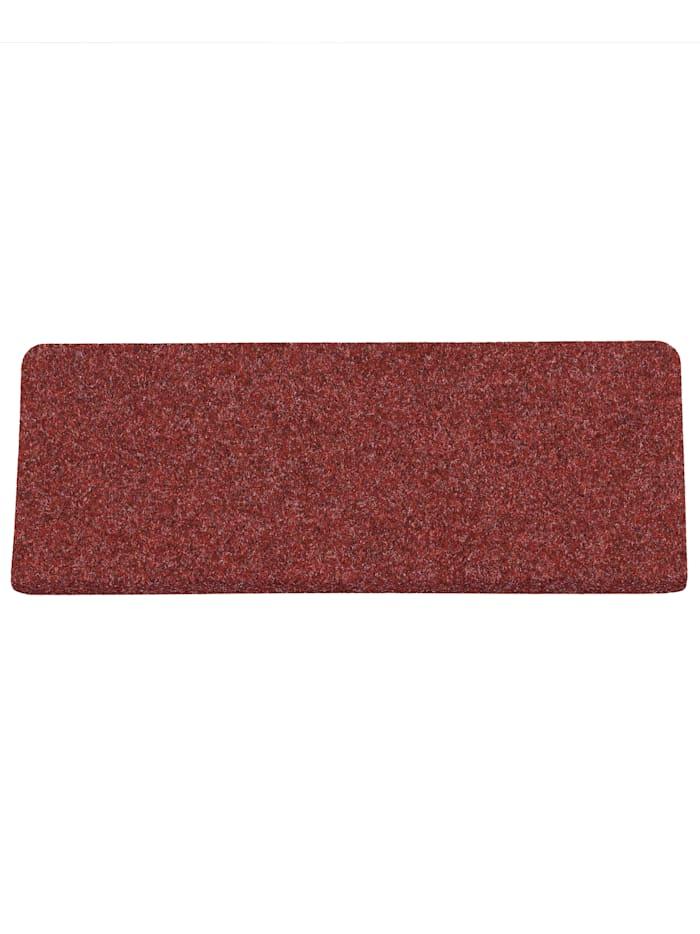 Pergamon Trend Nadelfilz Stufenmatte Bent (eckig) 15er-Set, Rot