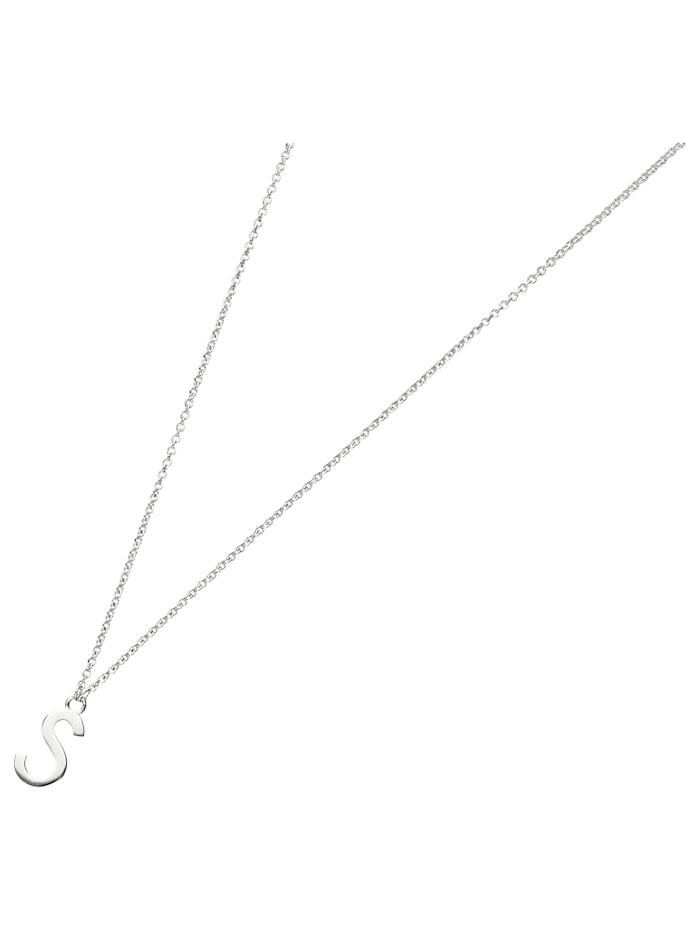 Smart Jewel Collier Buchstabe S, Silber 925, Silber