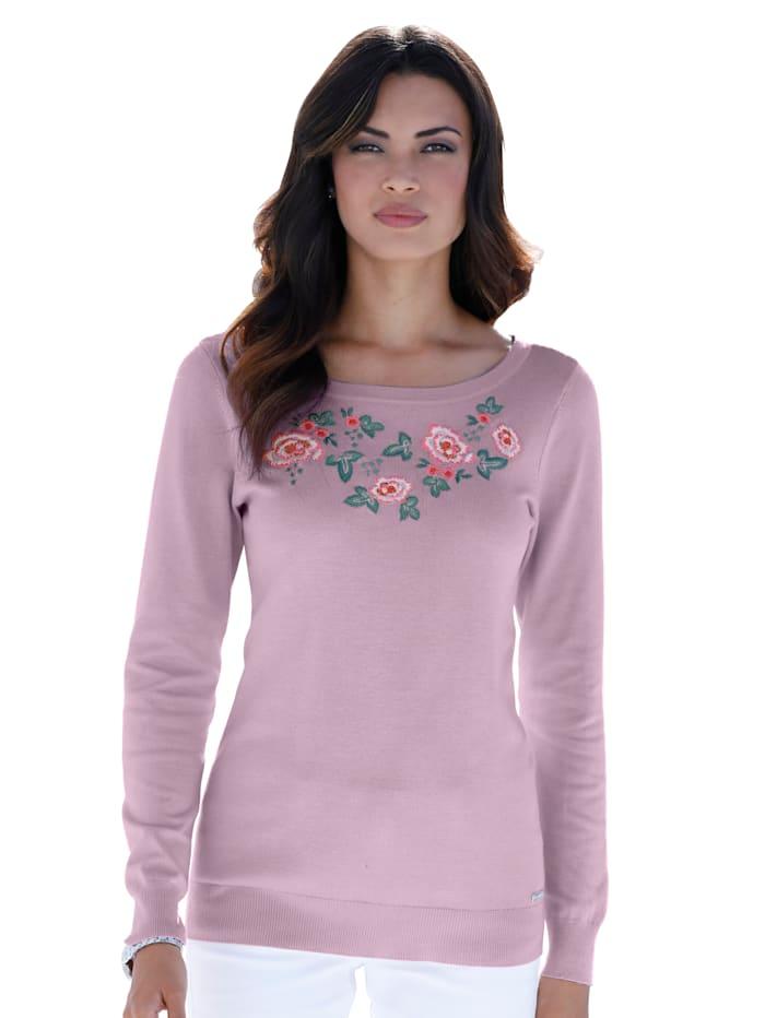 AMY VERMONT Pullover mit Stickerei, Rosé