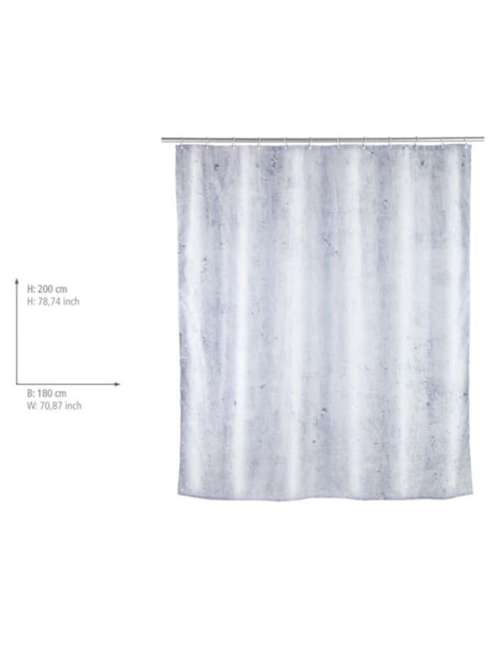 Duschvorhang Concrete, Textil (Polyester), 180 x 200 cm, waschbar