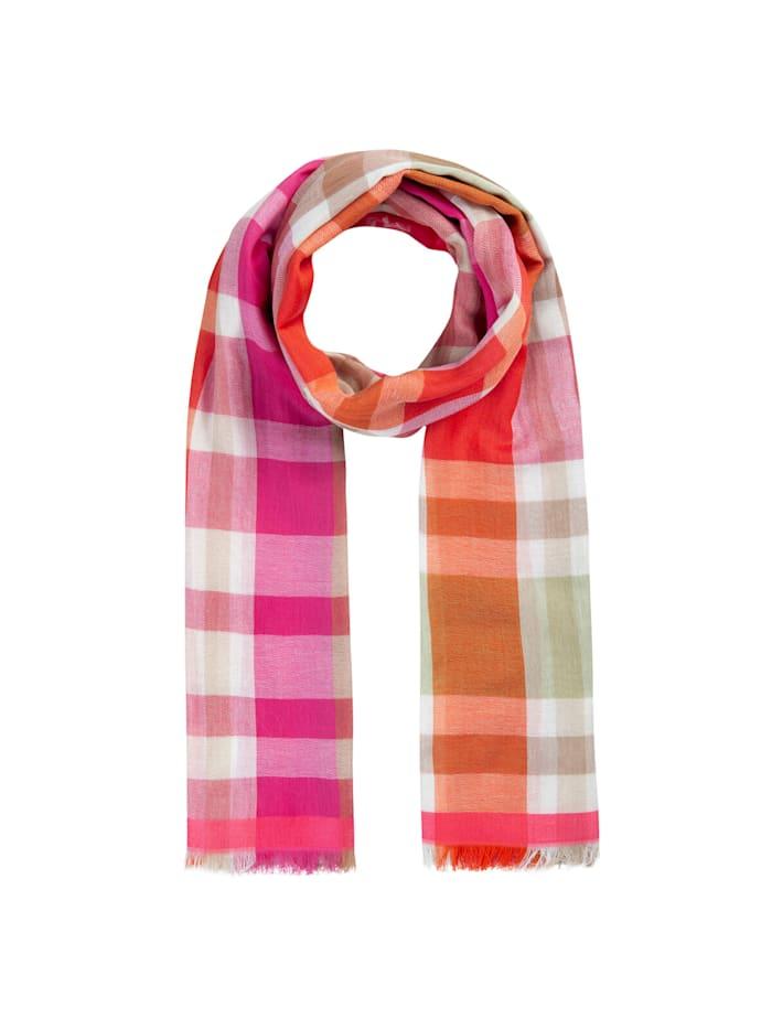 Codello Karo-Schal aus Baumwolle und Modal, pink