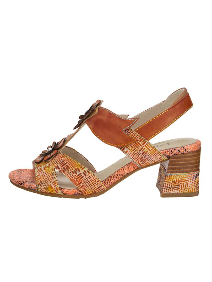Sandaaltje met bloemenapplicatie