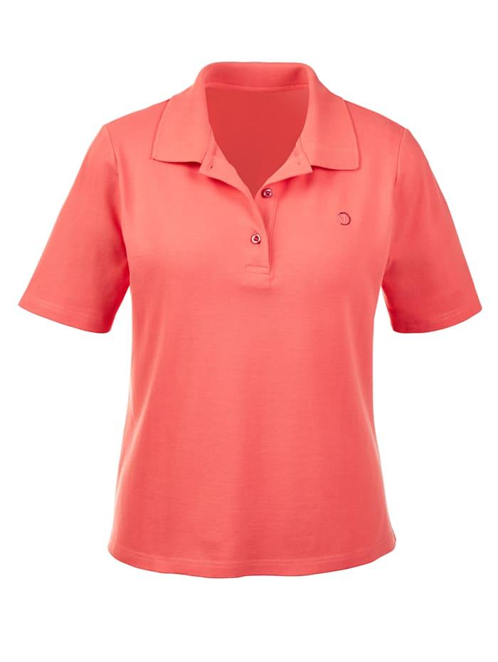 MONA Shirt mit Strasszier, Koralle
