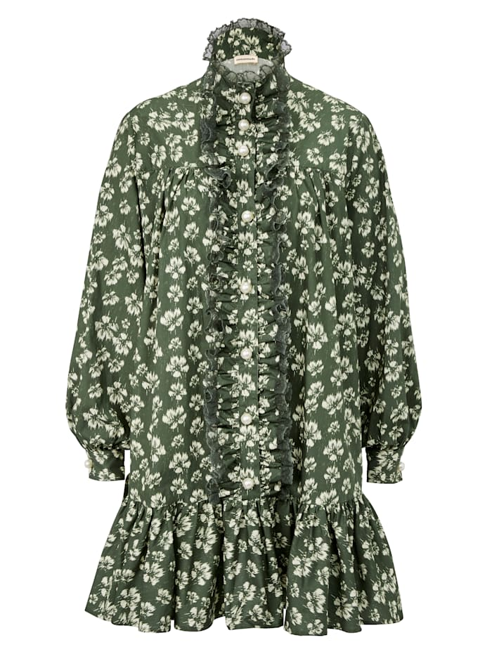 Custommade Rüschenkleid, Grün