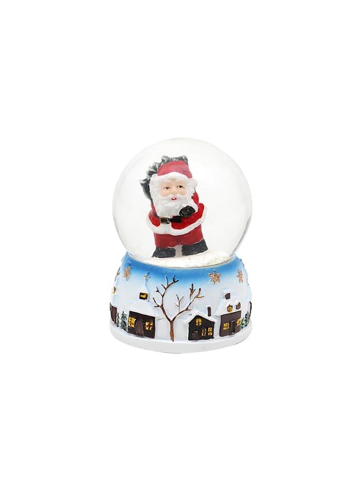 Schneekugel 1 Stück Weihnachtsmann und Schneemann