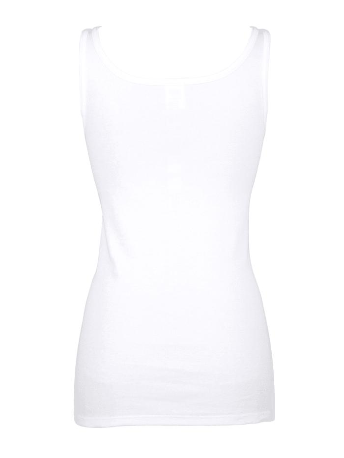 Unterhemd mit Hohlsaumspitze 2er Pack