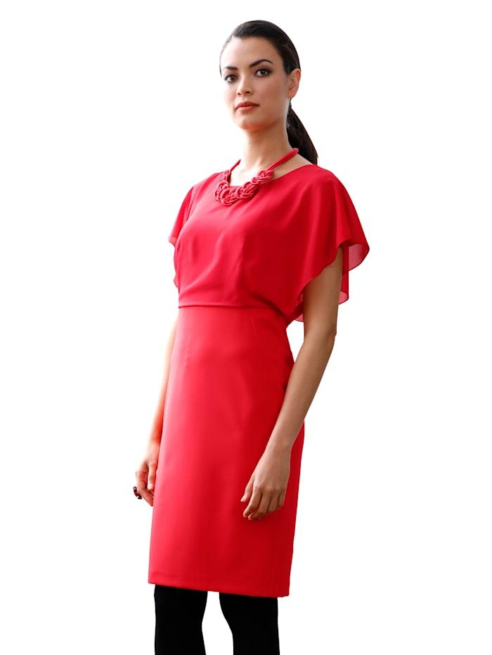 Kleid mit Chiffonoberteil