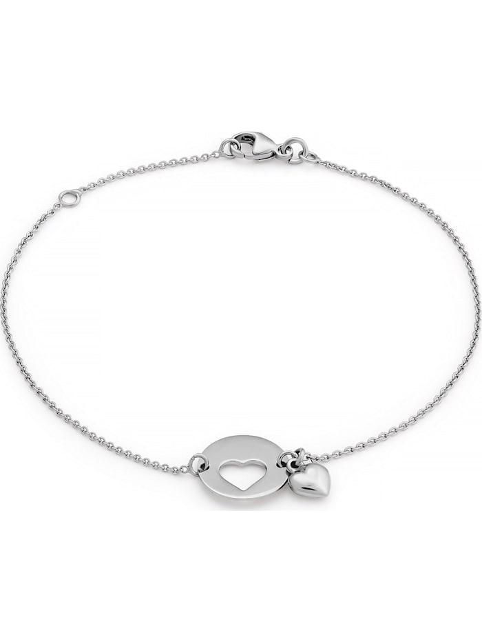 FAVS. FAVS Damen-Armband HERZ 925er Silber, silber