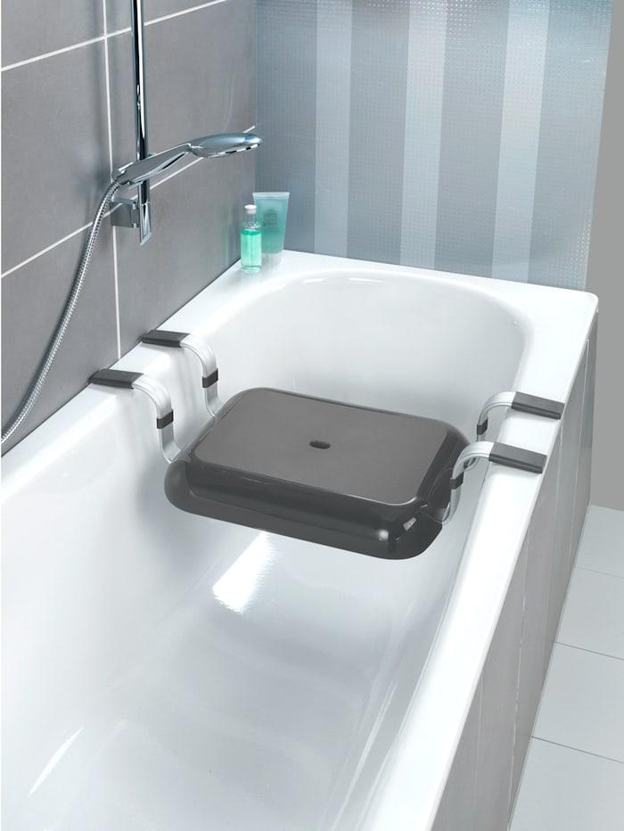 Wenko Siège pour baignoire Secura Premium, Coloris argent