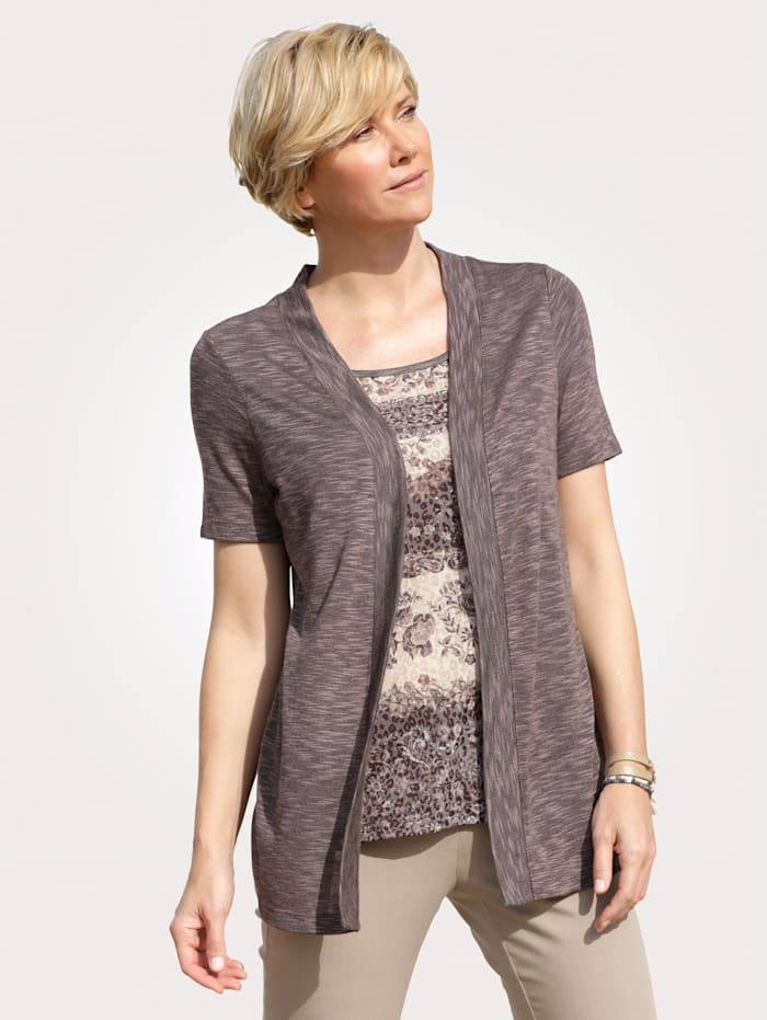 2-in-1 top with a floral print