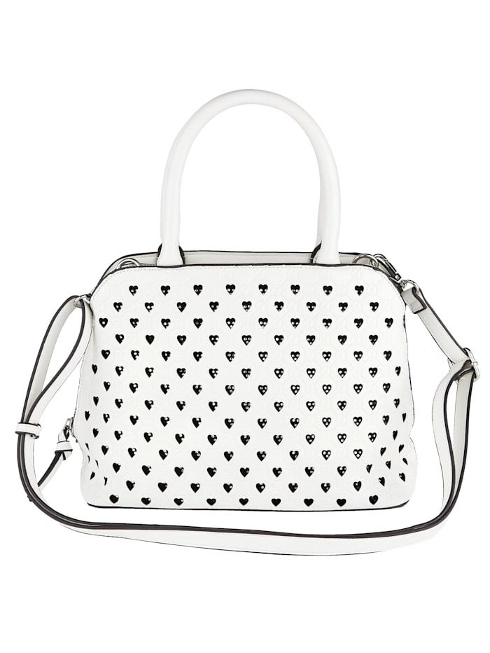 Handväska med hjärtformade öppningar