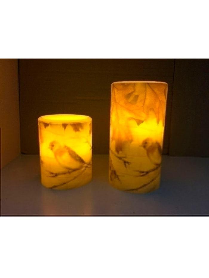 LED svíčky, 2 ks, krémová